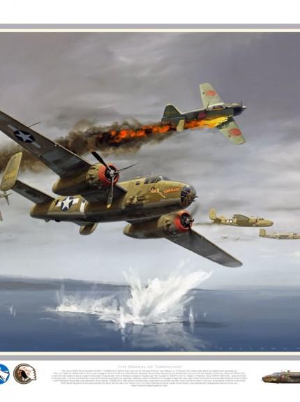 b-25 tondelayo over water