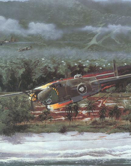 part of a 38th Bomb Group B-25 painting