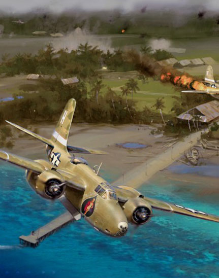 crop of 312th Bomb Group A-20s painting