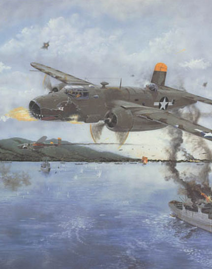 portion of a 38th Bomb Group B-25 painting