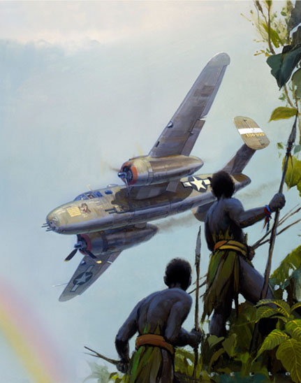 cropped version of 345th Bomb Group B-25 painting