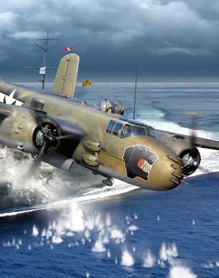 Painting of a 38th Bomb Group B-25