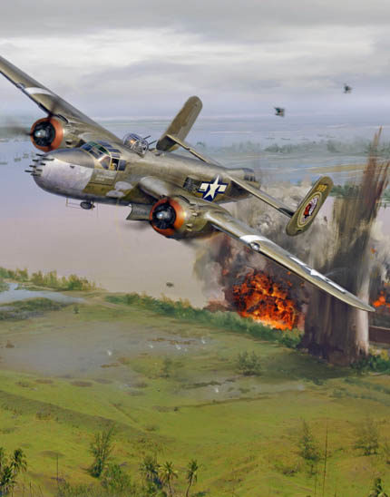 Painting of 345th Bomb Group B-25